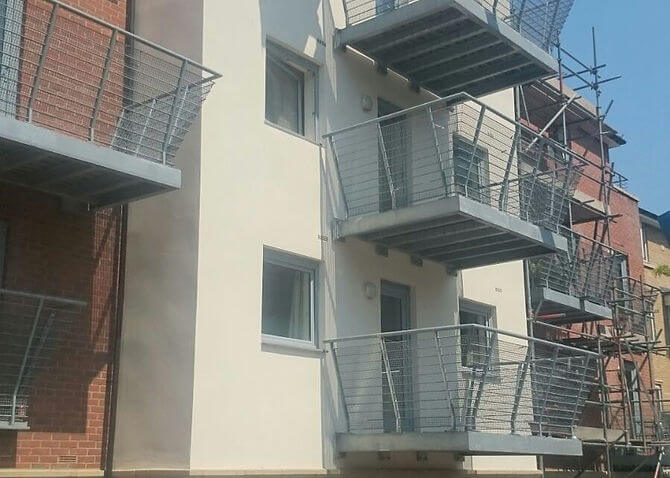 Precision Roofing and building maintenance balcony