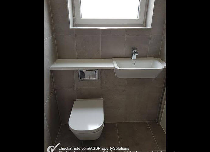 Precision Roofing and building maintenance bathroom work