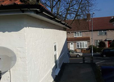 Precision Roofing and building maintenance plaster wall